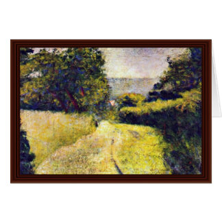 Le Chemin Creux By Seurat Georges Card