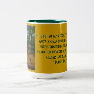 le chemin dans le forêt Two-Tone mug
