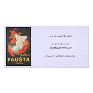 Le Chocolat Fausta Seduit Chocolate Seduction Photo Greeting Card