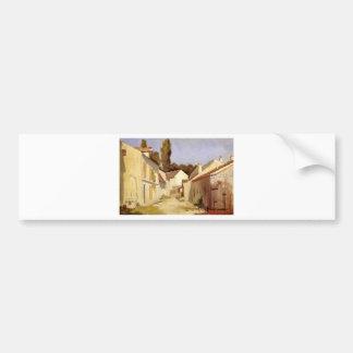 Le Clos des Abbesses by Gustave Caillebotte Bumper Sticker