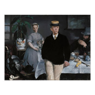 Le Déjeuner dans l'atelier by Édouard Manet Poster