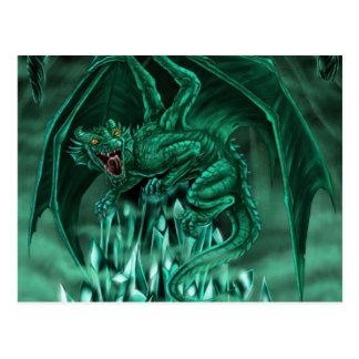 Le dragon mena�ant - carte postale