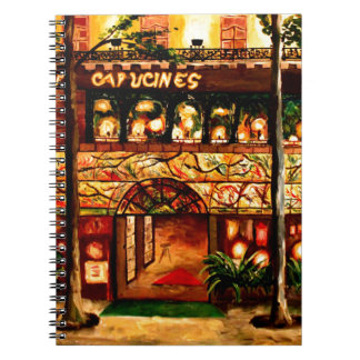 Le Grand Cafe Capucines In Paris France Spiral Notebook