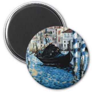 Le Grand Canal à Venise - Edouard Manet 6 Cm Round Magnet