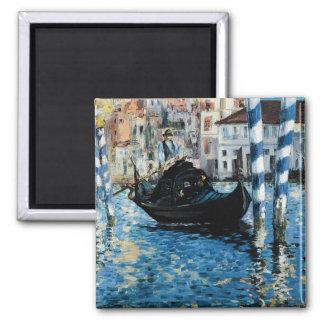 Le Grand Canal à Venise - Edouard Manet Square Magnet