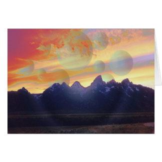 Le Grande Teton Greeting Card