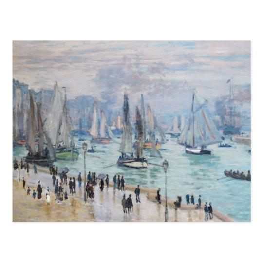 Le Havre, Bâteaux de Peche Sortant du Port   Monet Postcard