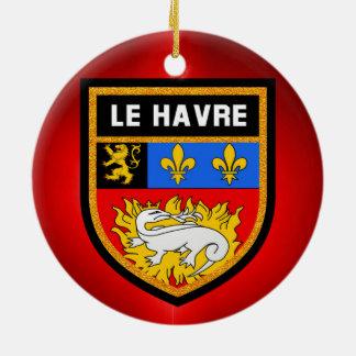 Le Havre Flag Ceramic Ornament
