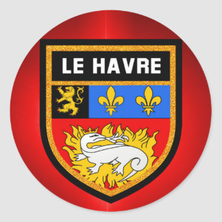 Le Havre Flag Classic Round Sticker