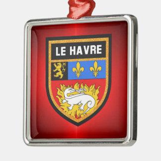 Le Havre Flag Metal Ornament