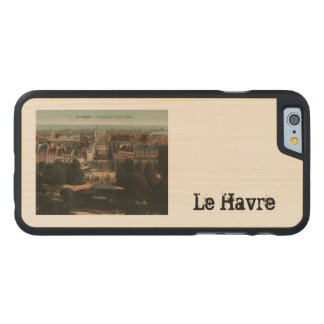 Le Havre Panorama de a rue de Paris Carved® Maple iPhone 6 Slim Case