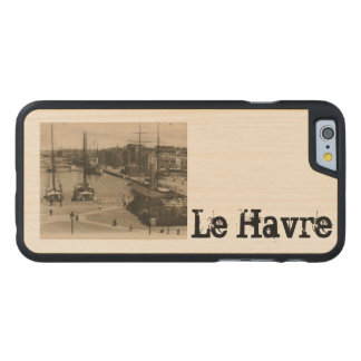 Le Havre - Quai Lamblardie sailing ships in dock Carved® Maple iPhone 6 Case