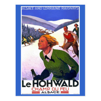 Le Hohwald Vintage French Travel Poster Postcard