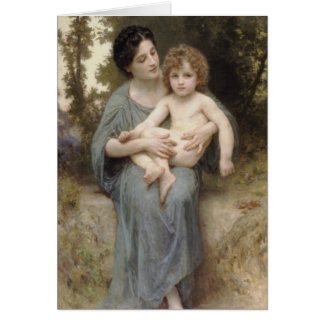 Le Jeune Frère (Little brother) Bouguereau Card