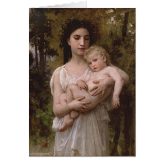 Le Jeune Frere (The Little Brother) Bouguereau Card
