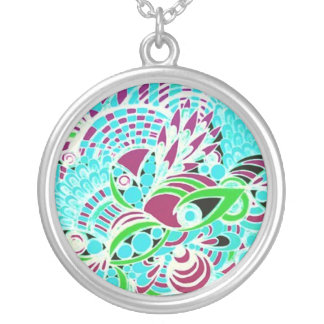 Le Liza Designs Silver Plated Round Necklace