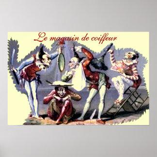 """""""Le magasin de coiffeu~La comédie de rasager"""" Poster"""