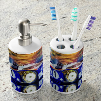 Le Mans 82 - Digitally Artwork by Jean Louis Soap Dispenser And Toothbrush Holder