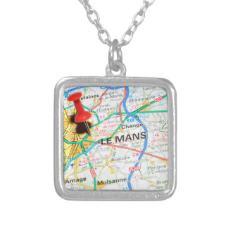Le Mans, France Silver Plated Necklace