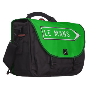 Le Mans, Road Sign, France Laptop Commuter Bag