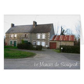 Le Marais de Sougeal, France Card