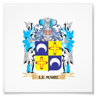 Le-Mare Coat of Arms - Family Crest Photographic Print