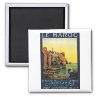 Le Maroc Square Magnet