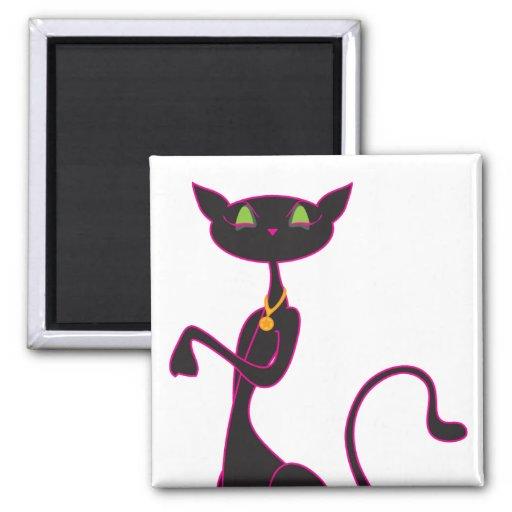 Le Meow Noir Magnets