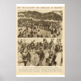 Le Miroir 1918, Afarican troops Poster