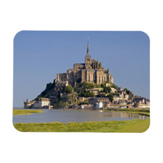 Le Mont Saint Michel in the region of Rectangular Photo Magnet