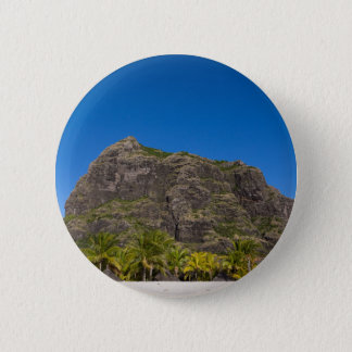 Le Morne Brabant Mauritius with blue sky 6 Cm Round Badge