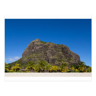 Le Morne Brabant Mauritius with blue sky Postcard
