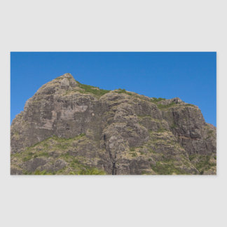 Le Morne Brabant Mauritius with blue sky Rectangular Sticker