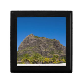 Le Morne Brabant Mauritius with blue sky Small Square Gift Box