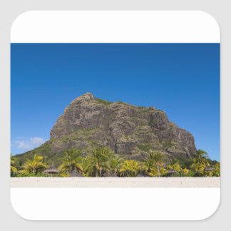 Le Morne Brabant Mauritius with blue sky Square Sticker