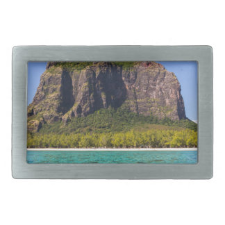 Le Morne Brabant Mauritius with sea panoramic Belt Buckles