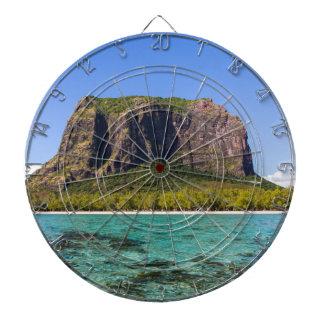 Le Morne Brabant Mauritius with sea panoramic Dartboard