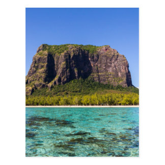 Le Morne Brabant Mauritius with sea panoramic Postcard