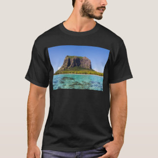 Le Morne Brabant Mauritius with sea panoramic T-Shirt