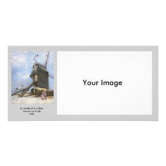 Le Moulin de la Galette by Vincent van Gogh Personalized Photo Card