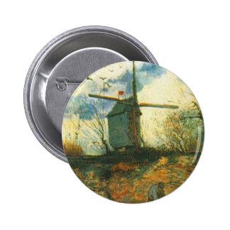 Le Moulin de la Galette Van Gogh Pinback Button