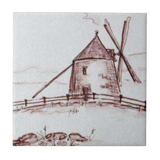 Le Moulin de Moidrey Windmill   Pontorson Ceramic Tile