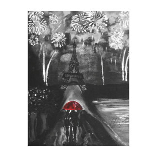 Le Parapluie Rouge Canvas Print