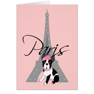 Le petit chien à Paris Card