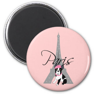 Le petit chien à Paris Magnet