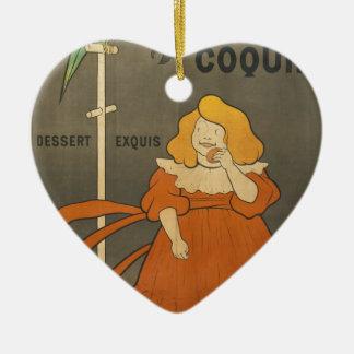 Le Petit Coquin Ceramic Heart Decoration