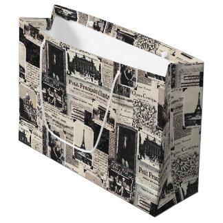 Le Petit Francais Illustre Large Gift Bag
