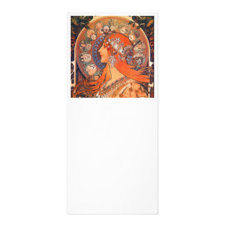 Le Plume Art Nouveau Design Rack Card Template