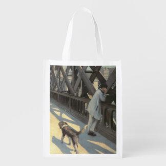 Le Pont de L'Europe, 1876 Grocery Bag