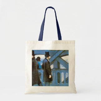 Le Pont de l'Europe by Gustave Caillebotte Budget Tote Bag